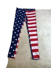 Mens American Flag Ironworker Casual Cotton Jogger Pants Workout Beam Trousers