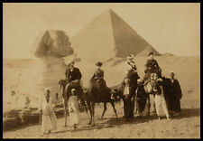 PH11 Vintage Victorian Tourists Sphinx Egypt Egyptian Pyramid Photo Print A3/A2