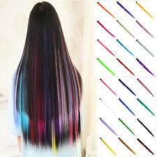 2pcs Femmes Multi Couleur Longue Synthétique Straight clip cheveux Extensions