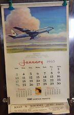 1965 Charles Hubbell Artwork Calendar Jet Argosies Airplane Aviation Rare