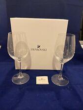 Brand New Swarovski Premium Quality Wine Glasses - Set of 2