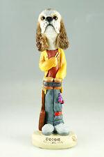 Musician Cocker Spaniel Br Wht- See Interchangeable Breeds & Bodies @ Ebay Store