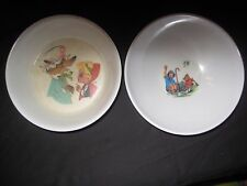Vintage child's bowl lot 2 melamine Little Red Riding Hood Winnie the Pooh dish
