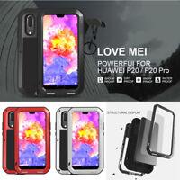 LOVEMEI Gorilla Glass Aluminum Metal Case Cover For Huawei P40 P30 P20 Pro Lite