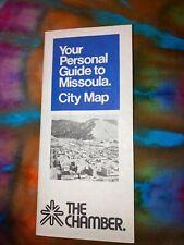 Map: Missoula Montana 1983 Published by Missoula Area City of Commerce