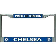 chelsea logo pride of london football club chrome license plate frame usa made