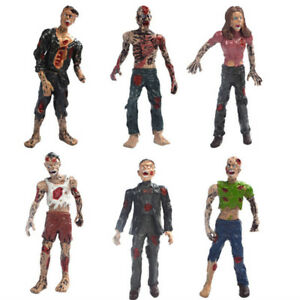 Fantasy 6 Pcs Walking Corpses Movie Characters Action Zombie Figures Kid Toy