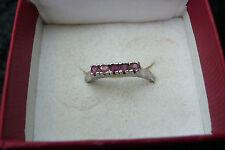 Véritable Rubis Gemme Argent 925 Bague Bijoux Silver Ruby Gemstone Jewelry!!!