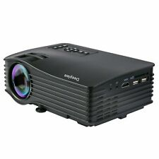 Deeplee DP36 Projector LED Home Cinema Theater PC Laptop USB SD HDMI 1000 LUMEMS