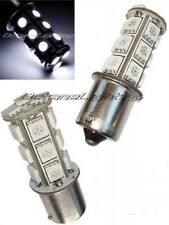 White LED #1156 Park Parking Back Up Tail Light Turn Signal Lamp Bulbs Pr 18SMD