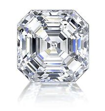 3.60 ct VVS1 WHITE h-i COLOR ASSCHER LOOSE REAL MOISSANITE 4 RING/PENDANT