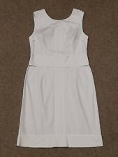 APOSTROPHE blanc sans manches SHIFT Ajusté Crayon Dress Taille 42 Fr/14UK