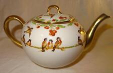 RARE BERNARDAUD & Cie Limoges B & Co Théière/tea pot décoré avec des oiseaux