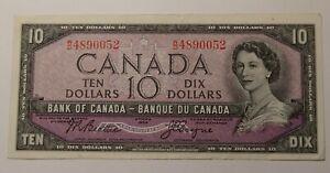 1954 Canada Ten Dollars Banknote 3370