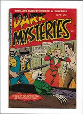 "DARK MYSTERIES #8 [1952 PR] ""TERROR OF THE GHOSTLY TRAIL"""