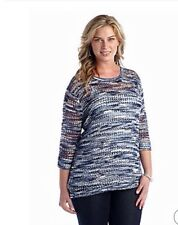 New Directions® Women Plus Size Clothes 2X Crimped Yarn Pullover Top