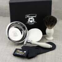 Vintage Style Shaving Gift Set for Men by Haryali London with Branded Box