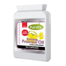 Evening Primrose Oil 1000mg 150 Capsules Hormone Balance Joints Heart UK Purvitz