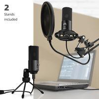 Fifine Condenser USB Mic Desktop Studio Microphone | Podcast Mic