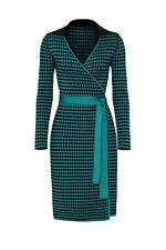 Diane von Furstenberg Women's Dress Green Size Small S Wrap Knit $468- #205