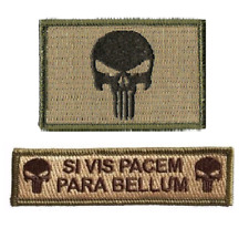 VELCRO® BRAND Hook Fastener Compatible Punisher Si Vis Pacem Bellum Patches MLTN