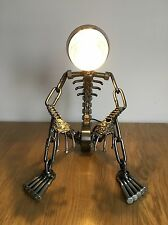 VINTAGE INDUSTRIAL HAND-MADE SCULPTURE ART METAL TABLE DESK LAMP