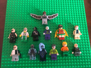 13 lego dc and Marvel super heroes minifigures lot Must See Rare Ruina Nexo