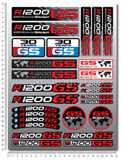 BMW R1200GS Adventure motorcycle decals 14 stickers r1200 GS Laminated red