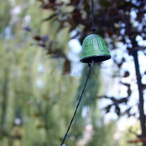 1pc Temple Bell Japanese Wind Chime Hang Sound Clapper Home Garden Decor Green