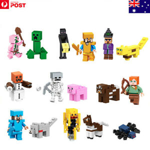 16pcs/Set Minecraft My World Series Characters Mini Figures Building Blocks Toys