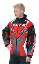 enfants WULFSPORT quad kart Motocross enfants Wulf MX ATTAQUE Ride VESTE ROUGE T