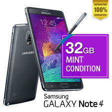 Samsung Galaxy Note 4 32GB Black Mint Condition Unlocked Android Smartphone