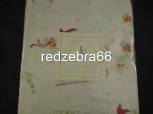 Pottery Barn Kids Santa's Sleigh Toddler Sheet Set Flannel Christmas Holiday 3pc
