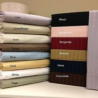1000tc 4 PCs Attached Water Bed Sheet Set 15 Inch Super Single Size Select Color