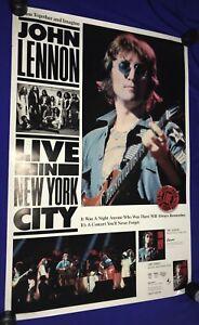 vintage John Lennon Live in New York City PROMO POSTER UNUSED Beatles Elephants