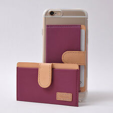 Ringke Genuine Leather ID/Card Holder 3M Adhesive Sticker Attach Wallet - PURPLE