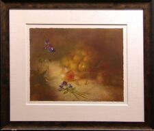 "Michael Gorban""Still Life with Apricots""Hand Signed with custom frame Make Offer"