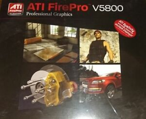 AMD ATI Firepro V5800 Graphic Card - New- 100-505605 1GB Pcie 2xDP 1xDVI Boxed