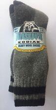New Alaskan's Kodiak Men's Wool Socks; 3 Socks per Pack (Charcoal), Size 7-11