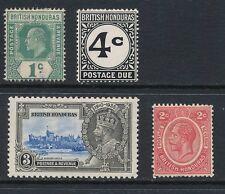 BRITISH HONDURAS, 1904-35 4 stamps fine MM, cat £40