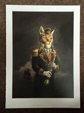 Fantasy Art PRINT Comic Illustration Rare 2014 Children Of Captain Grant CAT Man