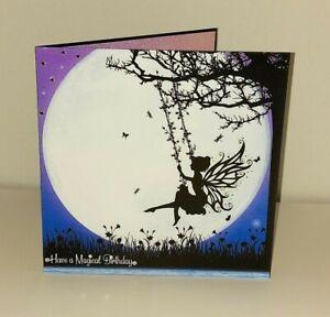 Once Upon a Twilight 'Magical Fairy on a Swing', Mystical Fairies Birthday Card