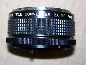 Quantaray 7Element Auto Tele Converter 2X MC for C/FD Canon with Case, Near Mint