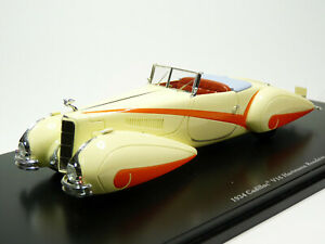 TSM TSM144357 1/43 1934 Cadillac V16 Hartmann Roadster Resin Model Car