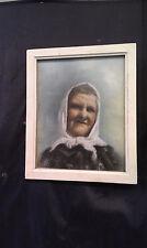 Dessin, pastel année 30/40 Portrait de gitane!