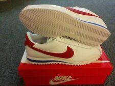 New Nike Cortez Basic Leather Og Forrest Gump Mens Sz 10.5 White Red 882254 164