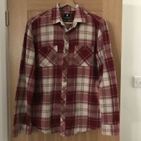 Mens Long Sleeved Checked Red And White John Partridge Shirt Size Large