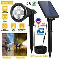 4-LED Solar Spot Light Garden Outdoor Lawn Landscape Spotlight Lighting Lot