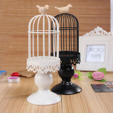 Wrought Iron Bird Cage Tealight Candle Holder Home Wedding Party Decor Black
