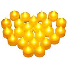 LED Teelichter 24 er Set elektrische Teelichter LED Kerzen Teelicht mit Batterie